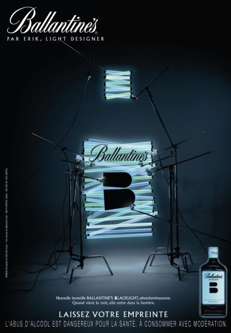 publicite ballantines blacklight erik