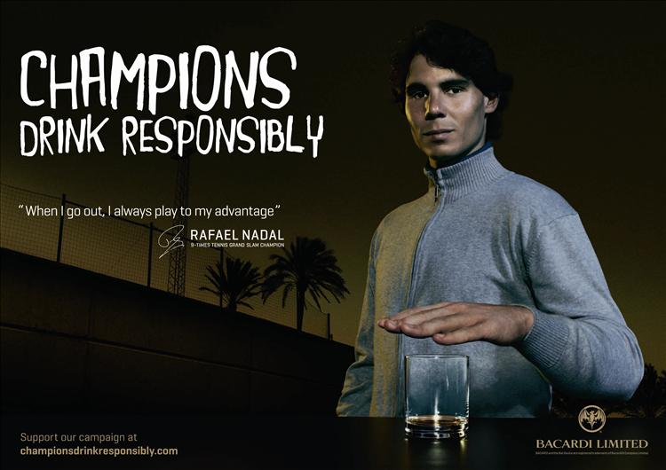 bacardi s offre nadal pour une campagne de pr vention. Black Bedroom Furniture Sets. Home Design Ideas