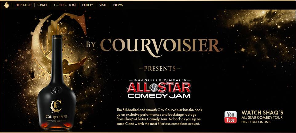 Copie d'écran Courvoisier US