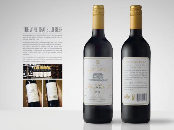 Bouteille de vin Export Dry