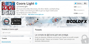 Tweets privés - Coors Light