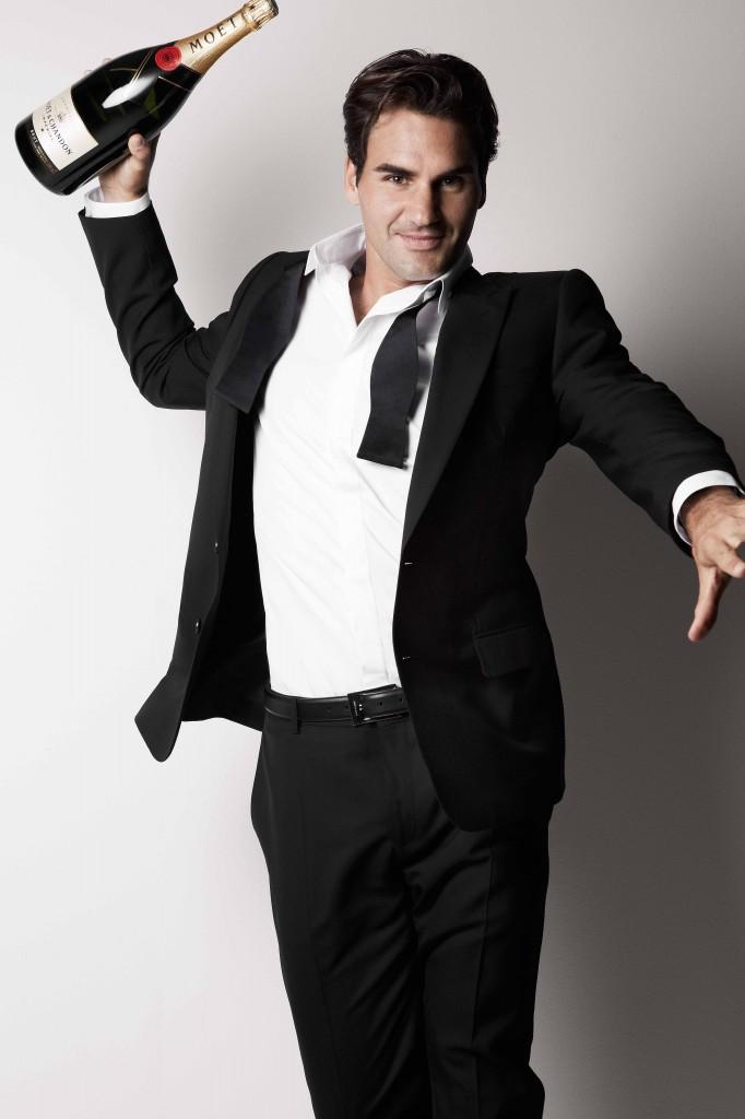 Roger Federer pour Moët&Chandon - Patrick Demarchelier