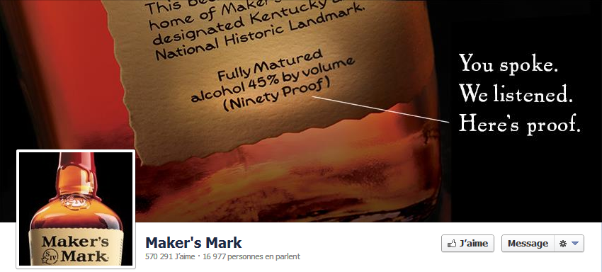 Couverture Facebook - Maker's Mark - 19/02/2013