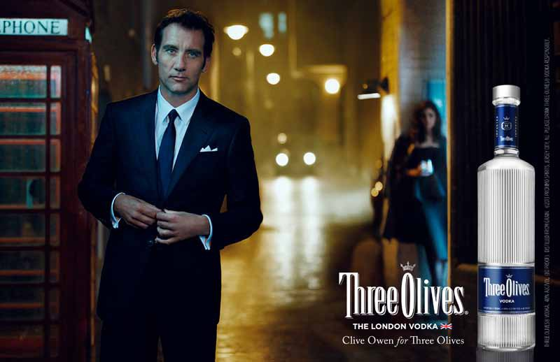 Clive Owen - Telephone - Three Olive Vodka
