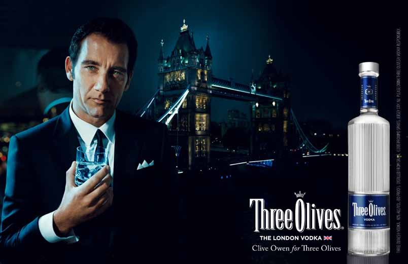 Clive Owen - Tower bridge - Three Olives Vodka