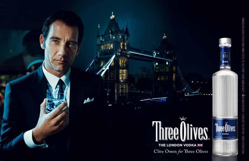 Clive Owen - Tower bridge - Three Olives Vodka