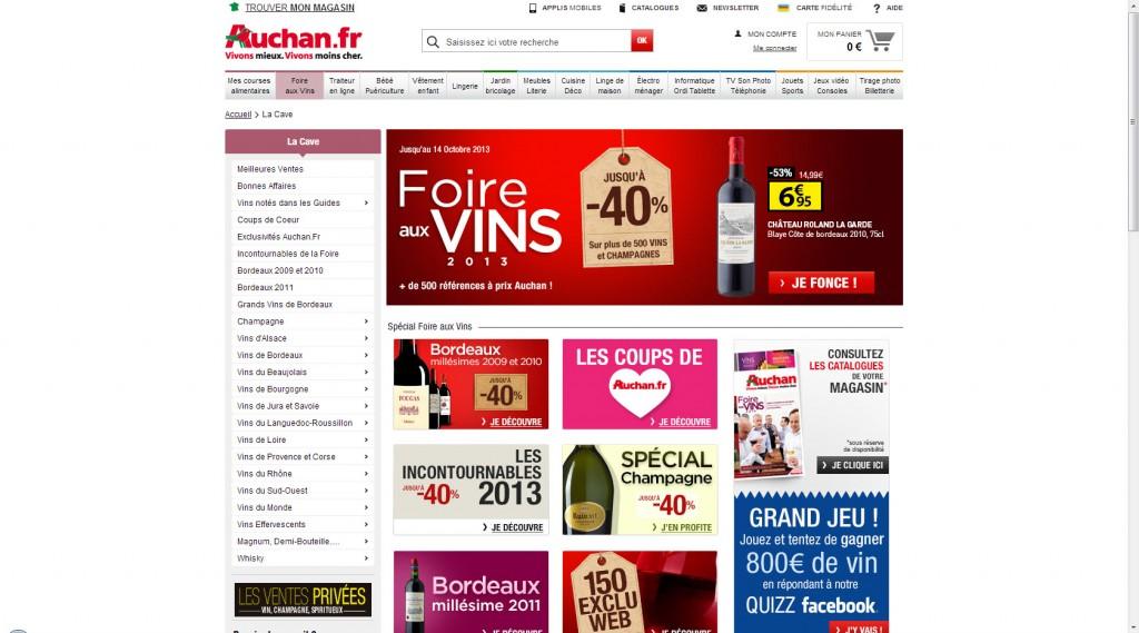 Foire au vin Auchan