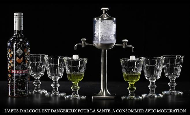 Pernod Absinthe coffret Kitsuné Fontaine