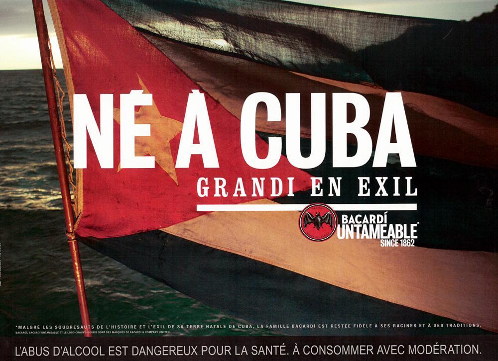 Affiche Bacardi Né à Cuba
