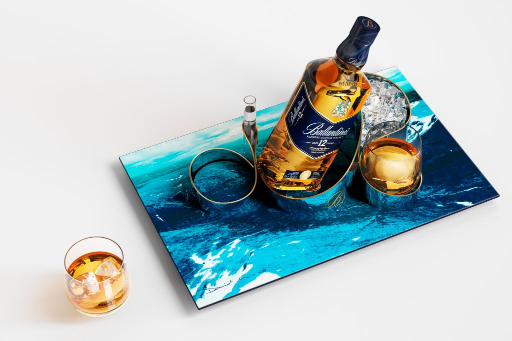 ballantines 12 ans by David Ma Coffret